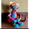 Nursery Felt Toy, Large Baby Shower Gift Stuffed Cat Amigurumi, Birthday Newborn