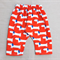 baby pants - red dogs organic cotton red blue white nb 0-3 3-6 6-12 mths unisex