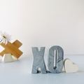 LOVE YOU TO BITS - resin shelfies - marble XO (kiss and cuddle)