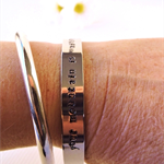 RESINATING WORDS - ladies cuff bangle hand stamped with a phrase that resonates