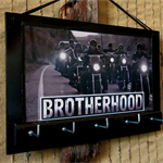 Wall Key Holders, Harley Davidson Key Rack, Brotherhood, Motor Bike Key Hook