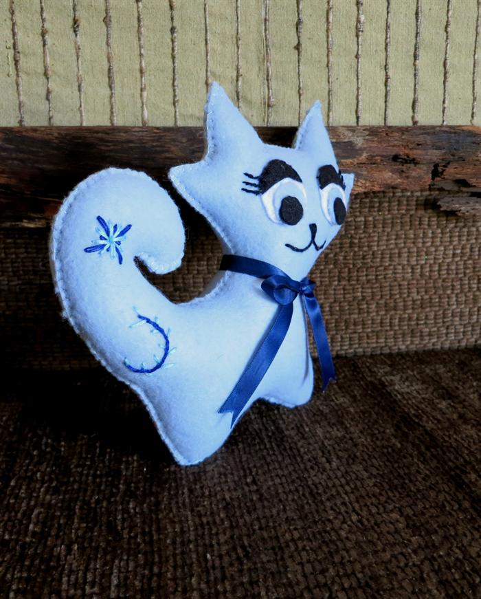 Handmade Baby Gifts Australia : Toy cat stuffed felt kitten nursery baby shower gift