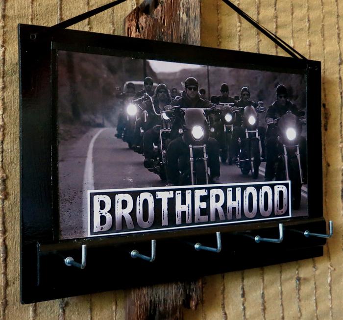 Wall Key Holders Harley Davidson Rack Brotherhood Motor Bike Hook Nchanted Gifts Madeit Au