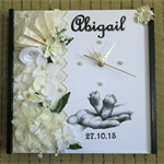Personalize Christening Baptism Name Day Birth Date Announcement Nursery Gift
