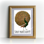 Strut Your Stuff A4 digital download printable graphic wall art