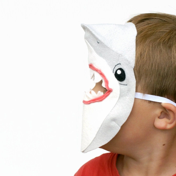 Shark Mask - Felt Mask - Kids Mask - Book week costume - Shark Costume  sc 1 st  Madeit & Shark Mask - Felt Mask - Kids Mask - Book week costume - Shark ...