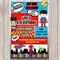 Superhero Personalised Birthday Invitation - YOU PRINT
