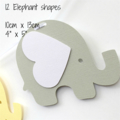 Pastel Yellow & Grey Elephant Garland. Photo prop, Baby shower, party banner.