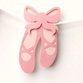Ballet Shoes Party Banner. Baby girl, Birthday Party, Bunting, Baby shower decor