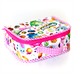 Mini fabric suitcase in Shopkins fabric