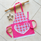 Kids/Toddlers Apron pink - lined kitchen/craft/art/play apron - Cute Daisies
