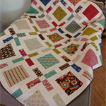 Modern  - patchwork quilt measures 63 inches square