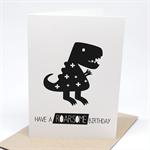 Birthday Card Boy - Monochrome Dinosaur - HBC191