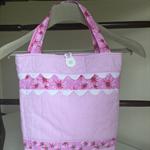 Pink Ric Rac tote bag