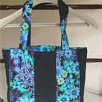 Medium teal blue tote bag