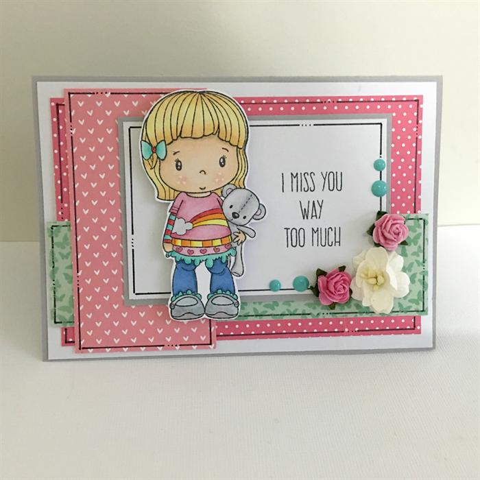 missing you card  i miss you so much  teddy bear card