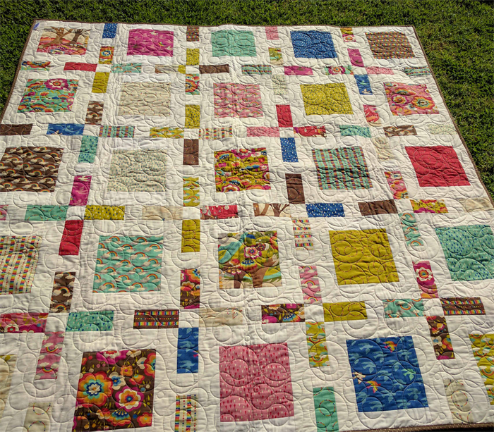 Modern - patchwork quilt measures 63 inches square ... : square patchwork quilt - Adamdwight.com