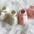 Crocheted Mary Jane Shoes | Made to Order | NB to 12M | Custom Colour