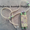 Bamboo Tile Beaded Necklace