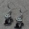 Black and White Cat Earrings