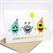 Birthday Card Boy - 3 Party Monsters - HBC193 / Wishing you a Happy Birthday
