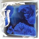 Delphinium Porcelain Coaster Pair