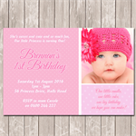 1st Birthday Invitation with Photo - YOU PRINT