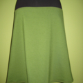 Green & Charcoal Skirt with Bamboo Stretch Band