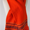 Fair Isle Scarf Orange - ready to post