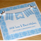 Boys Christening Day Card - blue bunting
