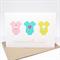 Baby Girl Card - 3 Baby Girl Rompers - BBYGRL037