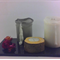 Wood tea light candle holders - Set of 3. Including white unscented candles.