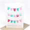 Baby Girl Card - Girls Bibs and Clothes on Clothesline - BBYGRL036