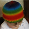 Hand-Knit, 1 - 2 yr Toddler, Wool, Rainbow, Beanie Hat
