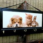 Wall Key Holders, Key Rack, Key Hook, Cat Dog Rabbit Key Hanger, Animal Leash