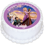 Tangled Personalised Edible Round Cake Topper - PRE-CUT