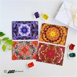 Kaleidoscope 'Flora' Greeting Cards, Set of 4