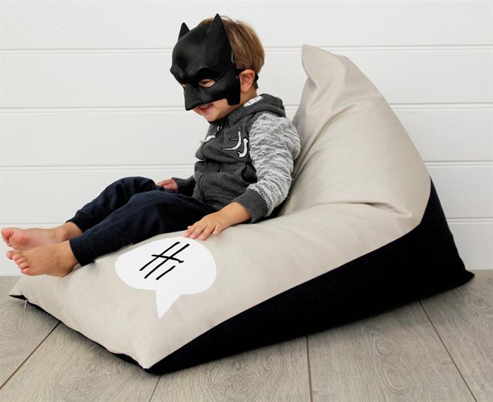 Personalised Kids Bean Bag Monochrome Hi