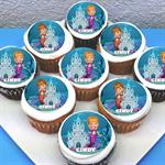 """Mermaid Personalised Edible Cupcake Toppers - 2"""" - PRE-CUT"""