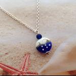 Nautical Lampwork Glass Ocean Waves Seaglass Bead Beach Necklace Jewellery