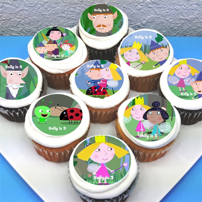 """Ben & Holly Personalised Edible Cupcake Toppers - 2"""" - PRE ..."""