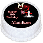 Twilight Personalised Round Edible Cake Topper - PRE-CUT
