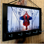 Wall Key Holders, Rack, Spiderman, Comic Cartoon Key Hook, Ear Phone Storage