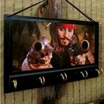 Wall Key Holders Rack, Johnny Depp, Captian Jack Sparrow Key Hook Hanger
