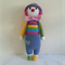 Ollie the clown, toy, crochet, ready to ship.