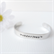 RESINATING WORDS - ladies cuff bangle hand stamped with words that resonate