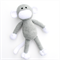 'Montgomery' the Crochet Monkey - grey & white - *READY TO POST*
