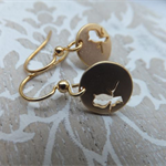 Gold Bird Pendant Earrings