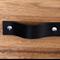 Black Leather Drawer Handles