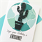 Birthday male cactus black teal aqua friend son him awesome card